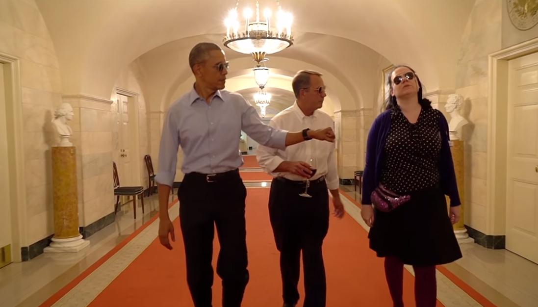 Obama'dan esprili veda videosu