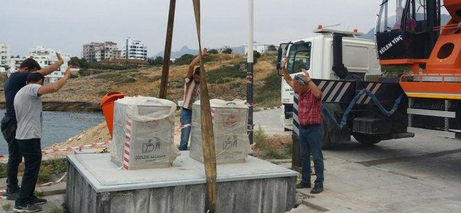 Girne Belediyesi'den 4 farklı bölgeye 8 yeraltı çöp konteyneri daha
