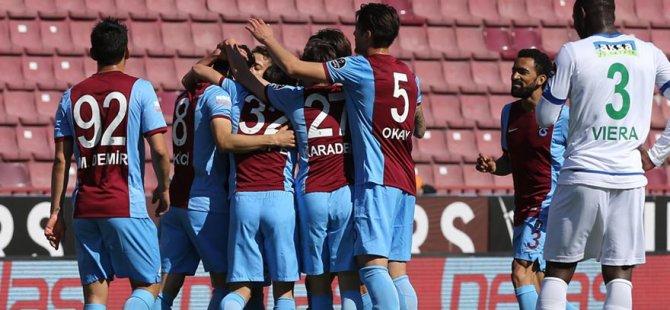 Trabzonspor maçında gol yağmuru!