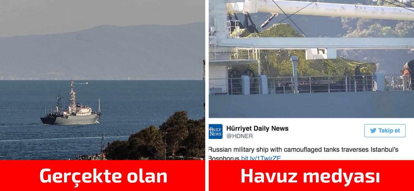 Türk basınının hayal gücü, Rus gemisinin güvertesine tank kondurdu
