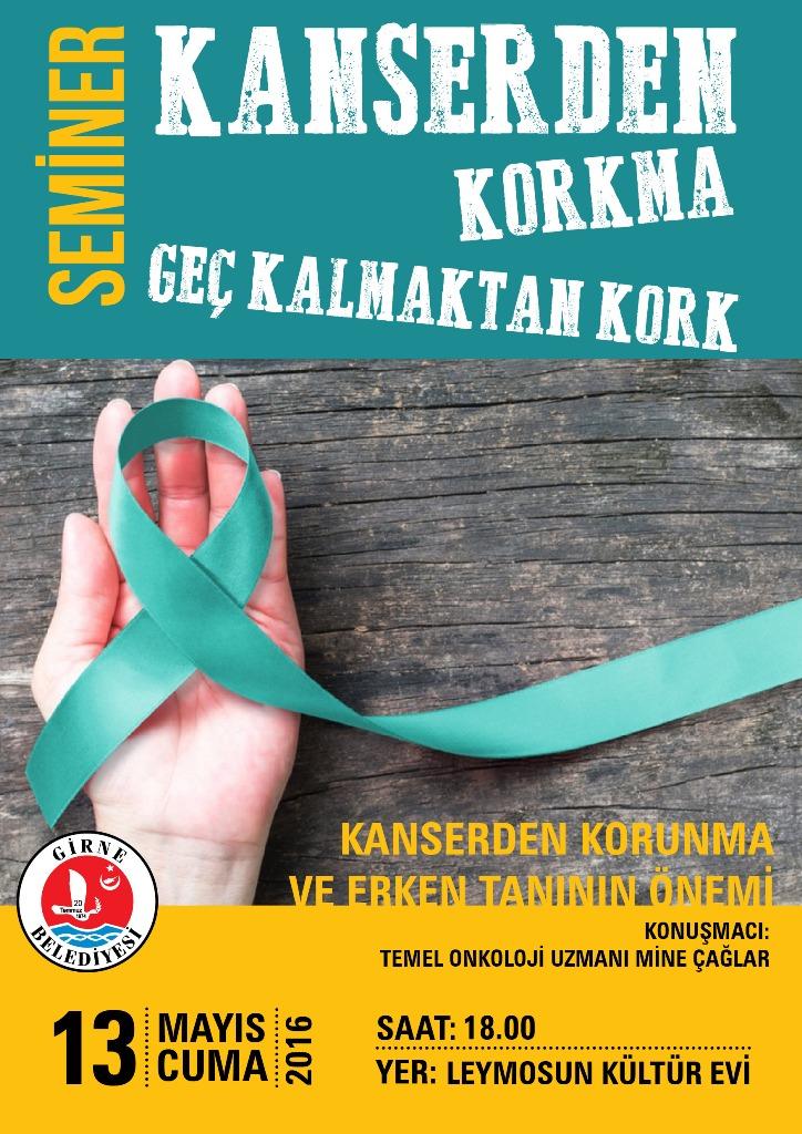 Girne Belediyesi Kanser konusunda halkı bilgilendirecek