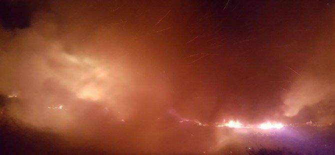 Esentepe'deki yangın durmadı!
