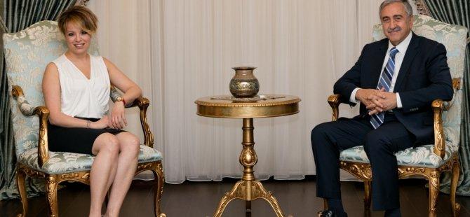 Cumhurbaşkanı Akıncı, Rüya Taner'i kabul etti