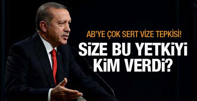Erdoğan'dan sert açıklamalar! AB ile restleşme