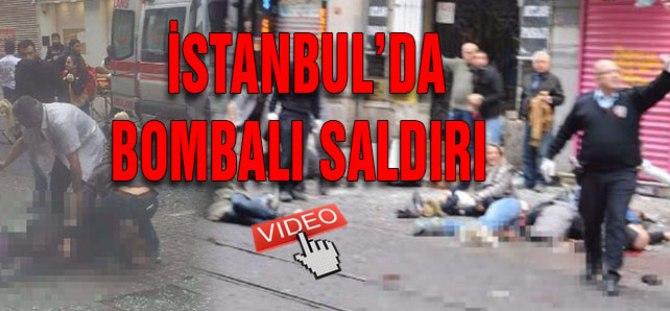 İşte İstanbul'daki patlamanın videosu!
