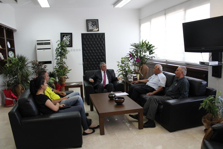 Çamsev İçişleri Bakanı Kutlu Evren'i ziyaret etti