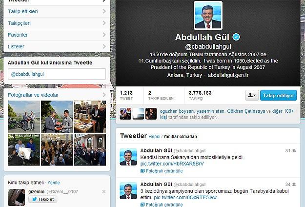 """Cumhurbaşkanı Gül'den """"Sofuoğlu"""" twitleri"""