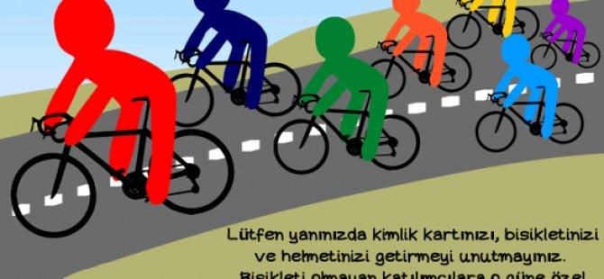 Pedaller barış ve birleşik Kıbrıs için dönecek