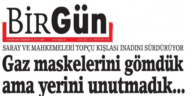 Danıştay'ın 'Gezi' kararına BirGün'ün yorumu; gaz maskelerini gömdük ama yerini unutmadık!