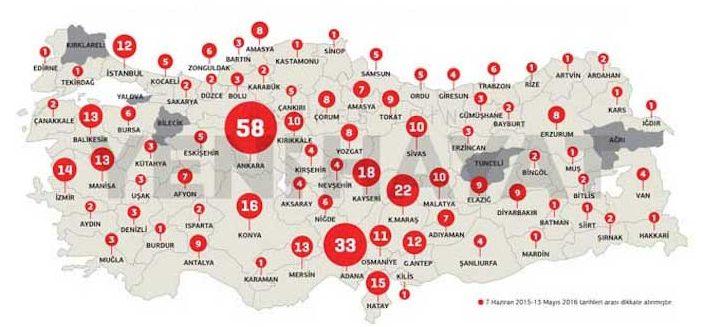Acının haritası çıkarıldı: En fazla 'şehit cenazesi' Ankara'ya geldi