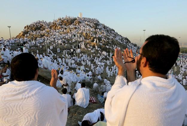 Ellerin duaya açıldığı Arafat'tan canlı yayındayız