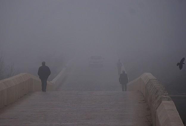 Edirne'de sis trafiği olumsuz etkiliyor
