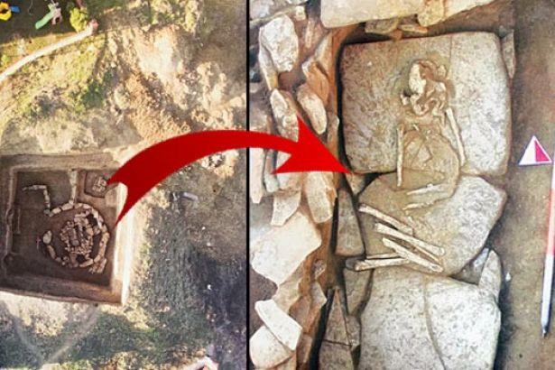 Silivri'de 5 bin yıllık 'kurgan' tipi mezar bulundu