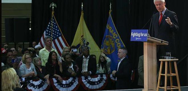 Clinton'ın seçim mitinginde 'Chobani' damgası