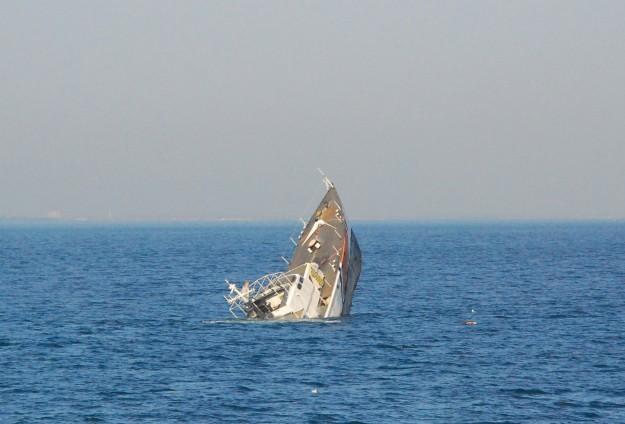 Güney Kore açıklarında gemi battı