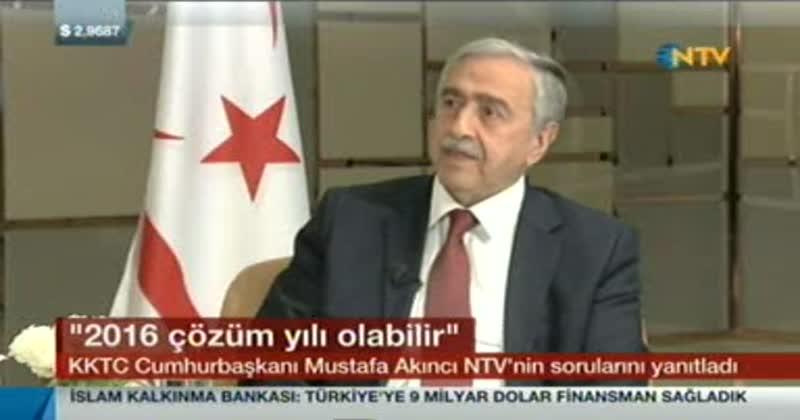Akıncı'nın NTV'ye yaptığı açıklamalar Rum basınında