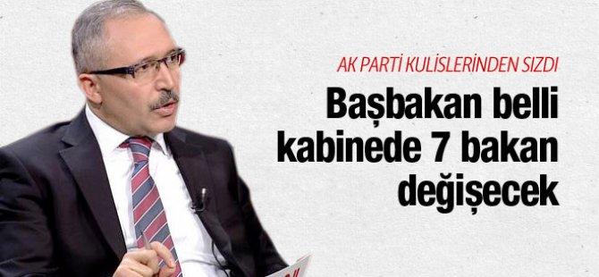 AKP'de sızıntı: Başbakan belli kabinede 7 bakan değişecek