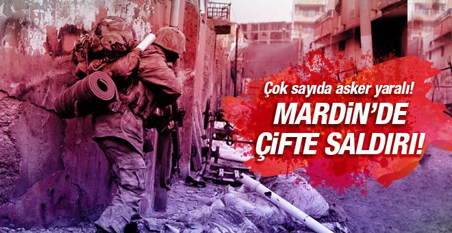 Mardin'de çifte saldırı! Çok sayıda asker yaralı!