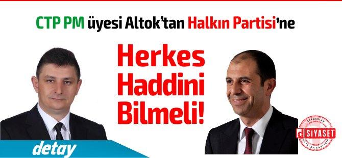"""CTP PM üyesi Hasan Altıok'tan HP'ye Sert Çıkış: """"Herkes Haddini Bilecek"""""""