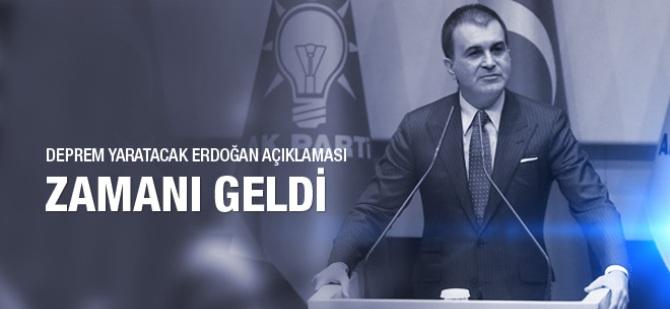 Ömer Çelik'ten deprem yaratacak Erdoğan açıklaması