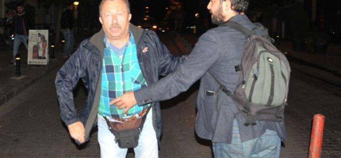 Erkan Can gazetecilere silah çekmek istedi, küfürler etti!