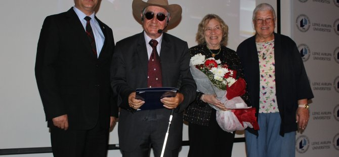 LAÜ, Dünyaca Ünlü Görme Engelli Ressam Eşref Armağan'ı konuk etti