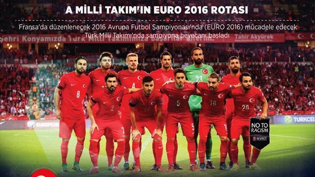 Türkiye A Milli Takım'ın EURO 2016 rotası
