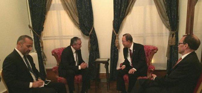 Son Dakika: Akıncı İstanbul'da BM Genel Sekreteri BAN ile görüştü