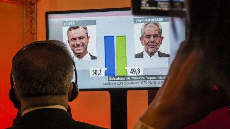 Avusturya'da Van der Bellen ırkçı aday karşısında mektup oylarıyla kazandı
