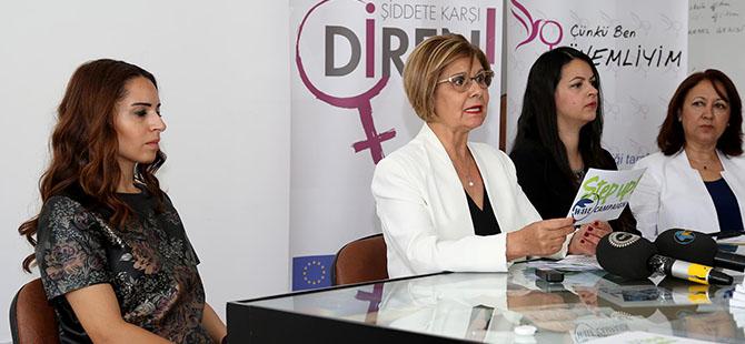 """""""Avrupa'da Şiddete Karşı Kadın Ağı""""ndan şiddete yönelik farkındalık kampanya"""