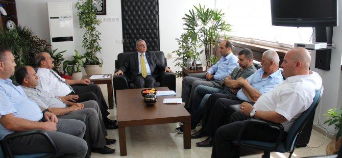 Kuzey Kıbrıs Taksiciler Birliği İçişleri Bakanı Kutlu Evren'i ziyaret etti.