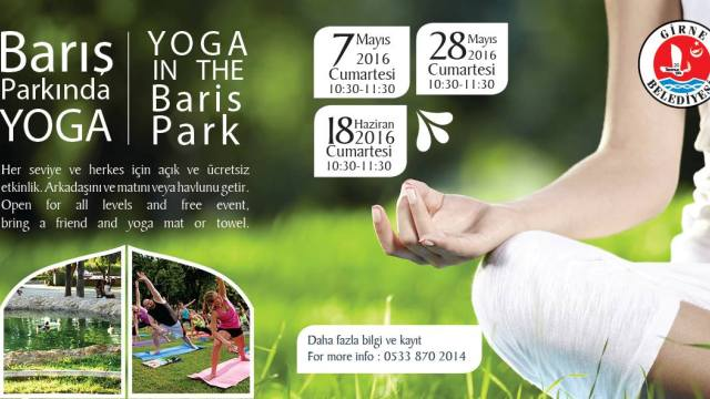 Girne'de ücretsiz yoga etkinliği