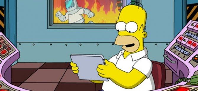 Homer Simpson 3 dakika boyunca canlı program yaptı!