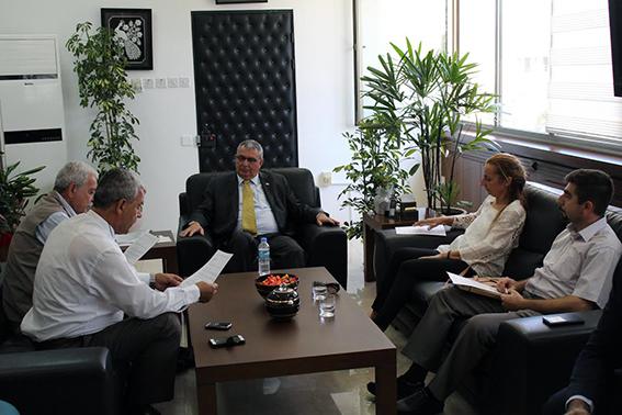 Lefke Sivil Toplum Örgütleri İçişleri Bakanı Kutlu Evren'i ziyaret etti