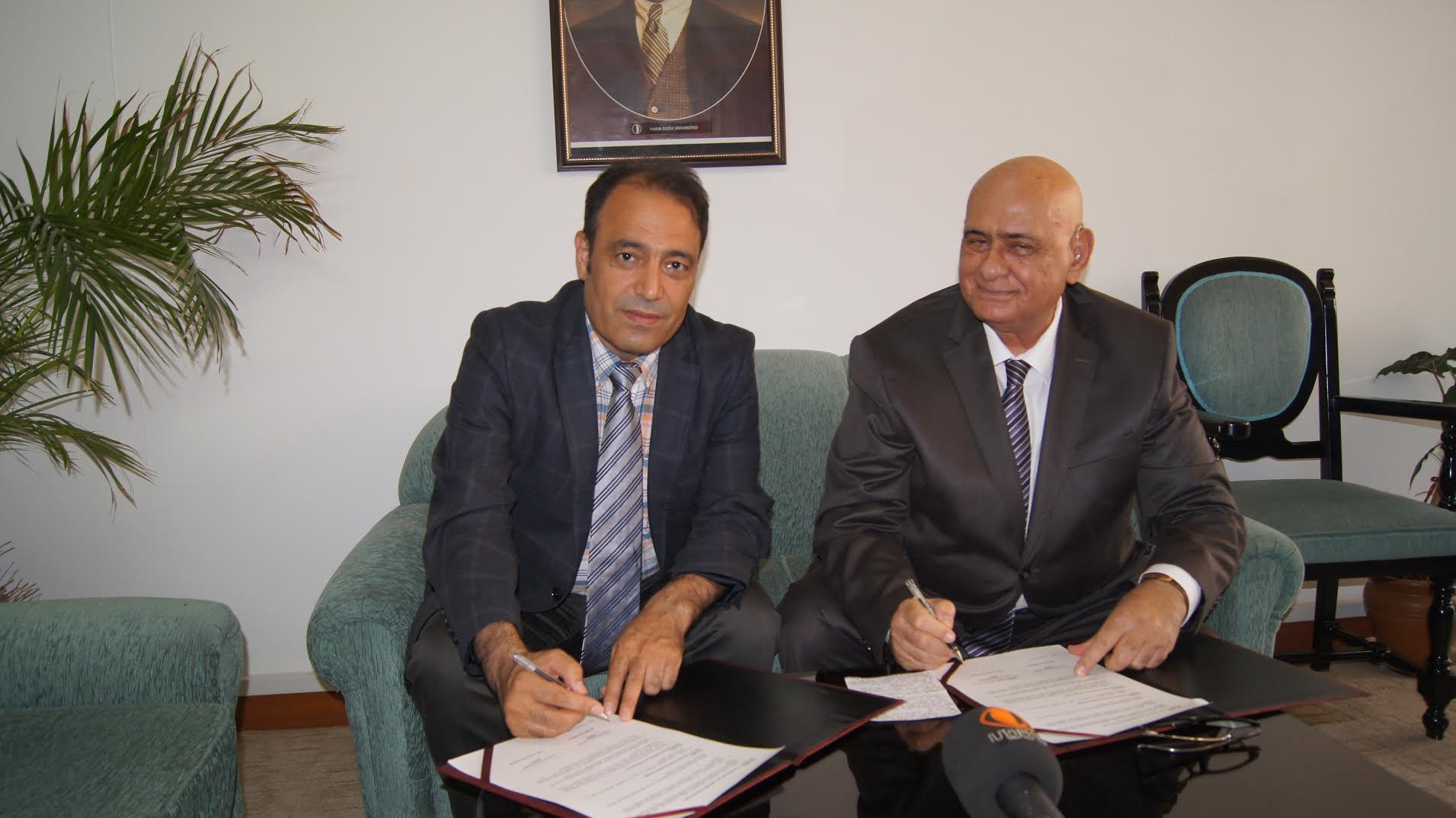 YDÜ ve Bingöl Üniversitesi Arasında İşbirliği Protokolü imzalandı...