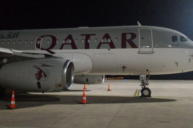 Seferi olmayan Katar uçağı Antep'de