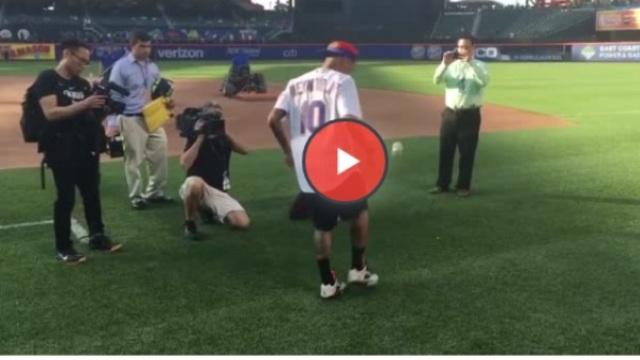 Neymar, beyzbol topuyla şov yaptı!