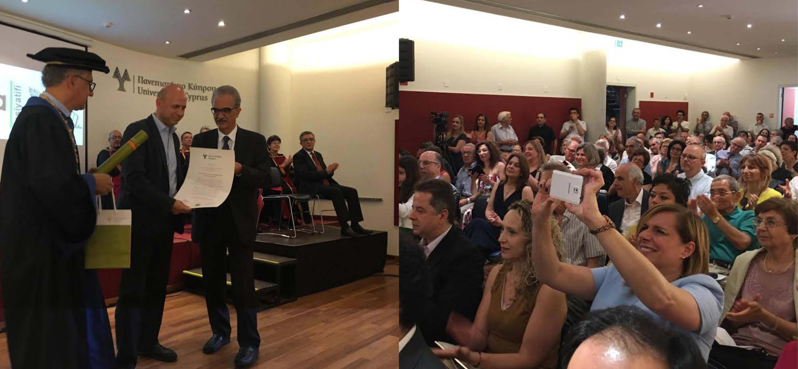 Mağusa İnisiyatifine Kıbrıs Üniversitesinden ödül