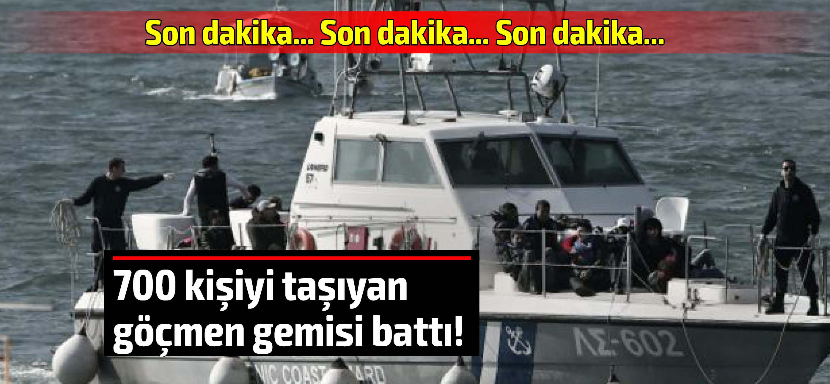 700 kişiyi taşıyan göçmen teknesi Girit açıklarında battı