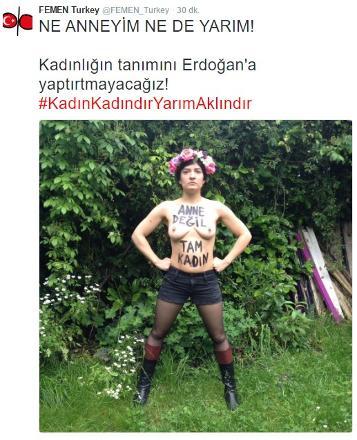 Femen'den Erdoğan'a sert tepki: Kadın kadındır, yarım aklındır