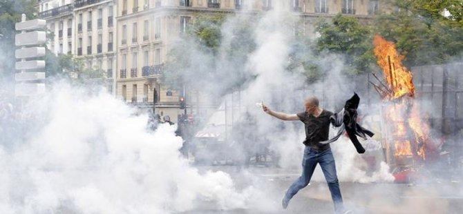 Fransa'da eylemler havalimanını da etkiledi
