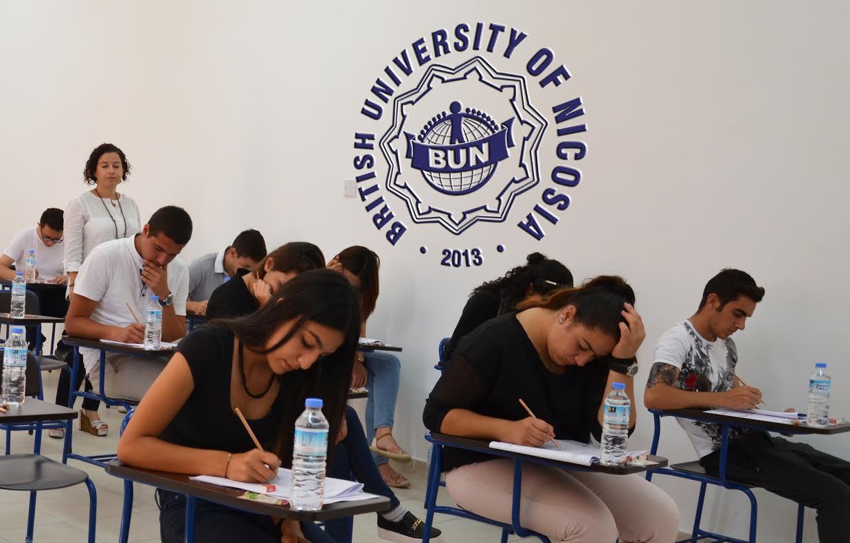 British University of Nicosia burs sınavı yarın