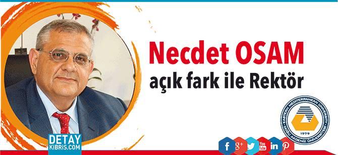 Prof. Necdet Osam açık farkla DAÜ Rektörü Seçildi