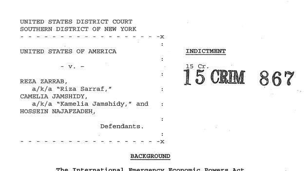 """""""ABD Zarrab davasında adı geçenleri yargılamak isteyebilir"""""""