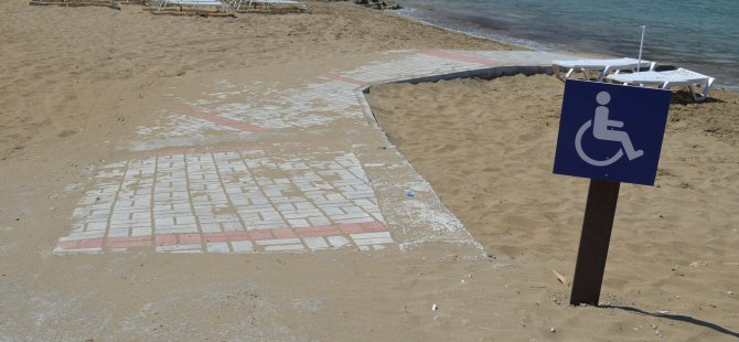 Kervansaray Plajı engelliler için düzenlendi