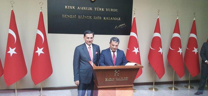 Dürüst ,Hatay Valisi Ercan Topaca'yı ziyaret etti