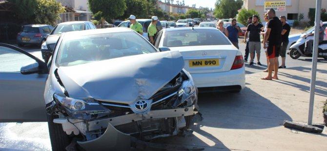 Gazimağusa'da kaza korkuttu!