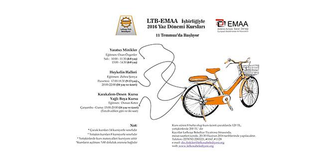 LTB – EMAA işbirliğinde gerçekleştirilen yaz kursları 11 Temmuz'da başlıyor