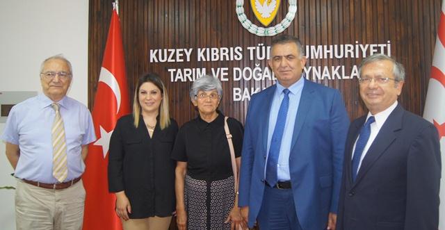 Girne Üniversitesi'nden Tarım Ve Doğal Kaynaklar Bakanı Nazım Çavuşoğlu'na Nezaket Ziyareti