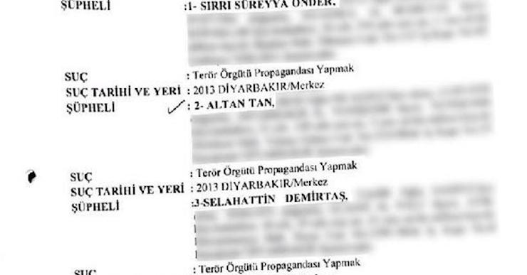 HDP'lilere ait 30 fezleke Diyarbakır'a gönderildi, kalan 130'u yolda